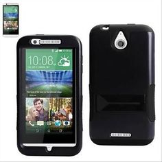 For-HTC-DESIRE-510-Hybrid-Impact-Armor-Case-Impact-Box-Cover-Stand-Rugged-Black