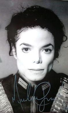 Michael Jackson Autogramm Großfoto 20x30 cm
