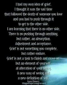 Mother Grieving Loss of Child - http://mothergrievinglossofchild.blogspot.com/: Saturday's Sayings - To Grieve is To Endure...