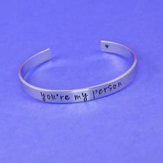 You're My Person Cuff Bracelet – Silver Statements