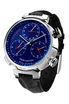 LOUIS VUITTON. Tambour Twin Chronograph