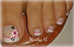 eye catching toe nail art ideas you must try for 2019 summer! - page 36 Toenail Art Designs, Pedicure Designs, Pedicure Nail Art, Toe Nail Art, French Pedicure, Fancy Nails, Pretty Nails, Hair And Nails, My Nails