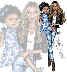 Beyoncé & Blue by Hayden Williams