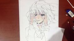 Drawing Yasuraoka Hanabi ( 安楽岡 花火 ) from Kuzu no Honkai - クズの本懐