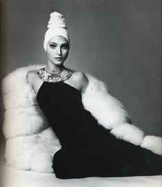 In love with Benedetta Barzini in a Caumont dress. Photographed by Gianpaolo Barbieri for Vogue Italia, 1968.