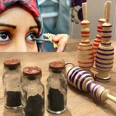 Horse Eyes Moroccan Kohl Eyeliner Traditional Handmade Best | Etsy Arabic Eyes, Wooden Containers, Kohl Eyeliner, Kohls, Moroccan, Mason Jars, Traditional, Fruit, The Originals