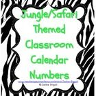 Jungle / Safari Theme Calendar Numbers    Various animal Print Numbers 1-31   -2 blank to add your own Special Days to your calendar    Could also be us...