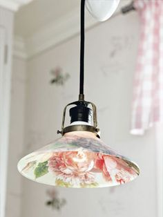 Decoupaged lampshade
