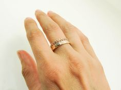 Gold Crown Ring Improved 14 Karat Gold Crown by Lovethebugs 14k Gold Ring, Sterling Silver Rings, Gold Rings, Real Gold Jewelry, Square Rings, Gold Crown, 14 Karat Gold, Pure Products, Handmade
