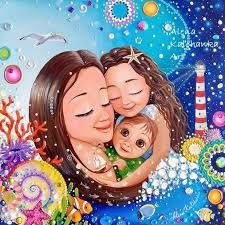 Risultati immagini per alena kalchanka art Mother And Daughter Drawing, Mother And Child, Bff Drawings, Pretty Drawings, Spirograph Art, Family Drawing, Small Canvas Art, Naive Art, Happy Mothers Day