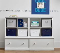 Cameron 2 Cubby & 2 Drawer Base Storage System #pbkids