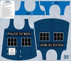 TARDIS shopping bag fabric by kfay on Spoonflower - custom fabric