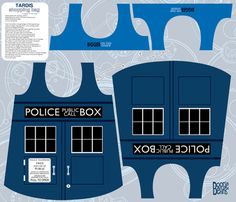 TARDIS shopping bag fabric by kfay on Spoonflower - custom fabric