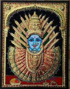 Mysore Painting, Tanjore Painting, Krishna Statue, Sai Baba Wallpapers, Hindu Mantras, Divine Mother, Cute Disney Wallpaper, Outline Drawings, Goddess Lakshmi