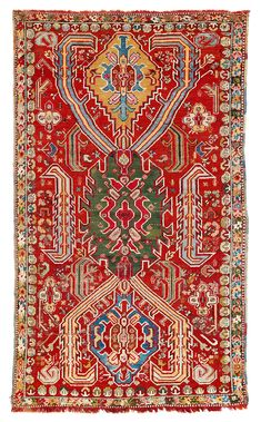 West Anatolian Dragon Carpet, Armenia, dated 1206 (1792)