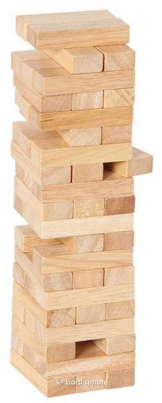 Bartl, Stapelturm mit Holzbox, Geschicklichkeitsspiel aus Gummibaumholz für Klein und Groß ab 5 Jahren | 100263 / EAN:04032821010575