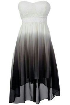 Very nice black and white ombre dress