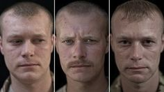 Mesmerizing Photographs Of Soldiers Faces Before And After A War