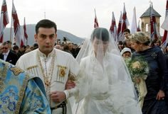 Prince David Bagrationi-Mukhran, 32, and Princess Anna Bagrationi-Gruzinsky, 31, were wed in Tbilisi's Trinity Cathedral in the capital of Georgia, Sunday, joining two strands of the royal house that once ruled over the impoverished and war torn Caucasus-nation.