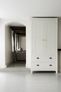 Armoire? Wall Cabinet? Perfect dresser? Simple. Elegant. Great proportions. Well set. EssenceofChic