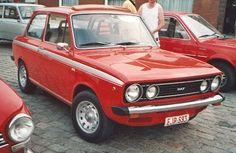 DAF 66 de lux / 3drs - kleur/rood - versnellin/automaat - kenteken/23-PM-25