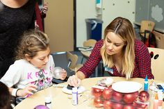 Lauren Conrad volunteering at CHLA