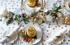 How to set your table with a decadent gold theme - and giant Ferrero Rochers. DIYs and photography by Lisa Tilse for We Are Scout. Photo: Lisa Tilse for We Are Scout