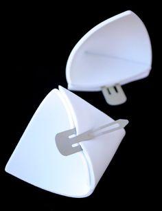 White Costume Ears: My Little Pony Rarity Ears by BrandiMillerArt