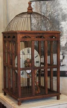 White Horse Relics: More Dress Forms, Birdcages & Summer Finds! Bird Cages, White Horses, Clock Parts, Unique Home Decor, Diy Craft Projects, Beautiful Birds, Decoration, Bird Houses, Garden Art