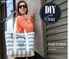 Super Sturdy Summer Tote: Dritz Rivets & More | Sew4Home