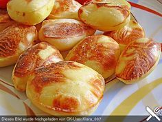 Balloon - Potatoes, a good recipe from the category Potatoes. Home Food, Iftar, Food Design, Potato Recipes, Superfood, Finger Foods, Food Inspiration, Food Porn, Food And Drink