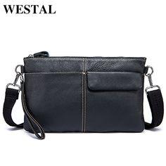 WESTAL Men s Crossbody Bags Men Bag Genuine Leather Shoulder Bag Small  Messenger Bag Casual Leather Handbag 411e13c2e8207