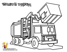 garbage truck coloring page garbage trucks free construction