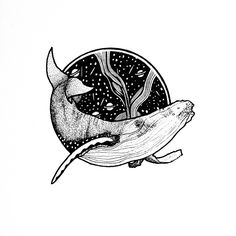 #illüstrasyon #illustration #Drawing #ink #rapido #Whale #dot #line #tattoo #tattoodesign