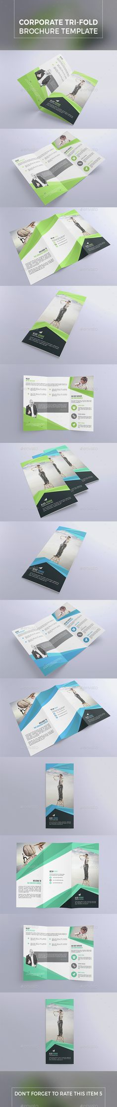 Corporate Tri-Fold Brochure Template Vector EPS, AI. Download here: http://graphicriver.net/item/corporate-trifold-brochure-template/15355432?ref=ksioks