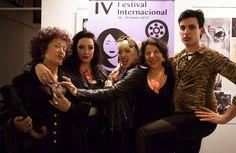 Con amigos cineastas y artistas