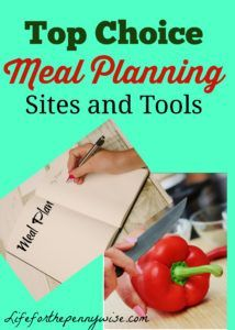 18 of the best Meal Planning Sites and Tools- (It's a Round UP