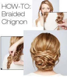 HOW-TO: Braided Chignon by Stephanie Brinkerhoff  @Tonya Seemann Seemann Seemann Potts and Makeup by Steph