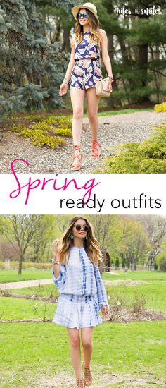 Spring is here! Time to discover new prints, colors and trends. What a better way to get started than with a tie-dye dress a lá Coachella or a two-piece crop top and shorts combo? Spring fashion inspiration!