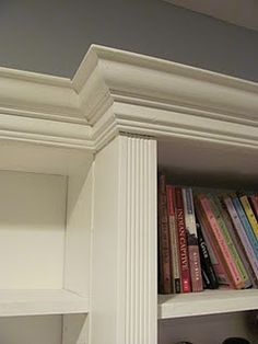 built-ins with crown moulding