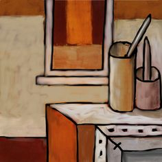 Man's obsession with still life hits new level with mash-up of Scully and Guston.