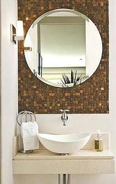 lavabo externo casa pequena espelho - Pesquisa Google