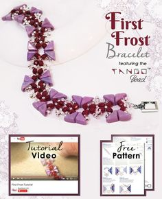 First Frost Bracelet, featuring the Tango™ bead. Click the image to check out a tutorial video for this design, as well as a free downloadable pattern, and get all the materials needed to make this for yourself!