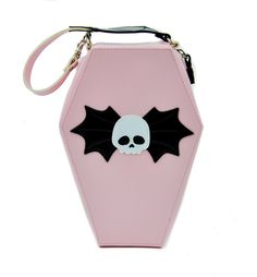 New Addicted Pink Coffin Bag Purse w/ Skull Gothic Punk Psychobilly Horror Emo Pastel Goth Fashion, Gothic Fashion, Pastel Punk, Casual Cosplay, Pink Handbags, Purses And Handbags, Mode Steampunk, Pink Coffin, Skull Purse