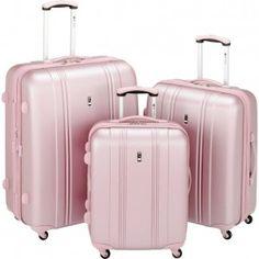 Pale Metallic Pink Luggage Set