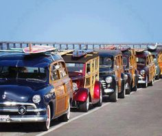Woodies in the lineup-headed to the beach http://www.amazon.com/The-Reverse-Commute-ebook/dp/B009V544VQ/ref=tmm_kin_title_0