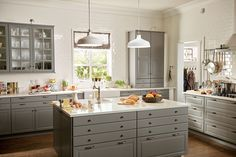 Kitchen, Charming Ikea Kitchen Planner With L Shaped Grey Kitchen Cabinet With White Granite Countertops White Ikea Pendant Lamps Grey Kitchen Island With White Granite Top White Subway Tile Wall White Kitchen Window Over Sink: Perfect Ikea Kitchen Planner - Make Your Dream Kitchen Come True