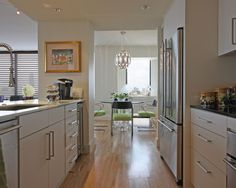 Small Open Galley Kitchen before & after: a nyc galley kitchen opens up | galley kitchens
