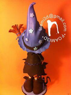* Fofuchas, Regalos y Trabajos realizados en EVA *: Fofucha bruja Azul