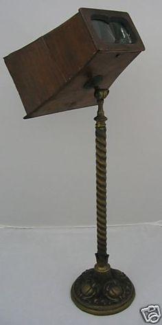 Antique Brewster Stereoscope Brass Stand Stereoview